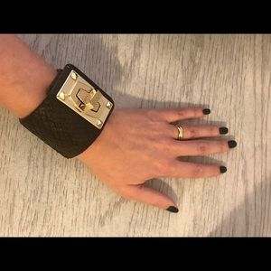 Chocolate Brown Leather Cuff